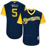 Camiseta Beisbol Hombre Milwaukee Brewers 2017 Little League World Series Jonathan Villar Azul