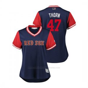 Camiseta Beisbol Mujer Boston Rojo Sox Tyler Thornburg 2018 Llws Players Weekend Thorn Azul