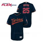 Camiseta Beisbol Hombre Minnesota Twins Byron Buxton 150th Aniversario Patch Autentico Flex Base Azul