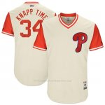 Camiseta Beisbol Hombre Philadelphia Phillies 2017 Little League World Series Andrew Knapp Tan