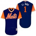 Camiseta Beisbol Hombre New York Mets 2017 Little League World Series Amed Rosario Royal