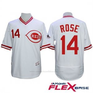 Camiseta Beisbol Hombre Cincinnati Reds 14 Pete Rose Autentico Coleccion Flex Base Blanco