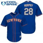 Camiseta Beisbol Hombre New York Mets Daniel Murphy 28 Azul Alterno Cool Base