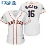 Camiseta Beisbol Mujer Houston Astros 2017 World Series Brian Mccann Blanco Cool Base