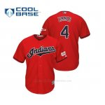 Camiseta Beisbol Hombre Cleveland Indians Bradley Zimmer 2019 All Star Game Patch Cool Base Rojo