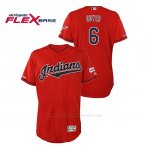 Camiseta Beisbol Hombre Cleveland Indians Brandon Guyer 150th Aniversario Patch 2019 All Star Game Flex Base Rojo