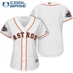 Camiseta Beisbol Mujer Houston Astros 2017 World Series Campeones Blanco Cool Base