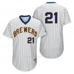 Camiseta Beisbol Hombre Milwaukee Brewers Travis Shaw Blanco 1982 Turn Back The Clock