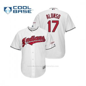 Camiseta Beisbol Hombre Cleveland Indians Yonder Alonso 2019 All Star Game Patch Cool Base Blanco