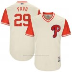 Camiseta Beisbol Hombre Philadelphia Phillies 2017 Little League World Series Cameron Rupp Tan