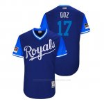 Camiseta Beisbol Hombre Kansas City Royals Hunter Dozier 2018 Llws Players Weekend Doz Royal