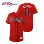 Camiseta Beisbol Hombre Atlanta Braves Ender Inciarte Flex Base Autentico Collezione Alternato 2019 Rojo