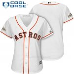 Camiseta Beisbol Mujer Houston Astros 2017 Postemporada Blanco Cool Base