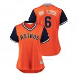 Camiseta Beisbol Mujer Houston Astros Jake Marisnick 2018 Llws Players Weekend Big Fudge Orange