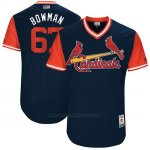 Camiseta Beisbol Hombre St. Louis Cardinals 2017 Little League World Series Matt Bowman Azul