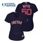 Camiseta Beisbol Mujer Boston Red Sox Mookie Betts Cool Base Majestic Azul