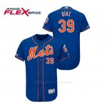 Camiseta Beisbol Hombre New York Mets Edwin Diaz 150th Aniversario Patch Flex Base Azul