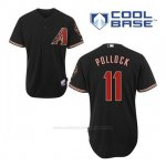 Camiseta Beisbol Hombre Arizona Diamondbacks 11 A.j. Pollock Negro Alterno Cool Base