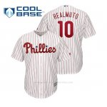 Camiseta Beisbol Hombre Philadelphia Phillies J.t. Realmuto Cool Base Majestic Home Blanco