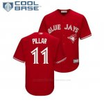 Camiseta Beisbol Nino Toronto Blue Jays Kevin Pillar Cool Base Replica Scarlet