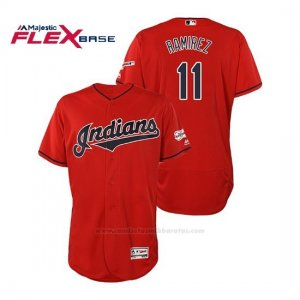 Camiseta Beisbol Hombre Cleveland Indians Jose Ramirez 2019 All Star Game Patch Flex Base Rojo