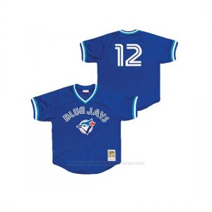 Camiseta Beisbol Nino Toronto Blue Jays Roberto Alomar Cooperstown Collection Mesh Batting Practice Azul