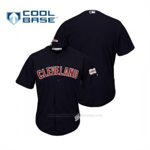 Camiseta Beisbol Hombre Cleveland Indians 2019 All Star Game Patch Cool Base Alternato Personalizada Azul
