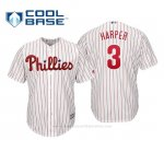 Camiseta Beisbol Nino Philadelphia Phillies Bryce Harper Cool Base Home Blanco