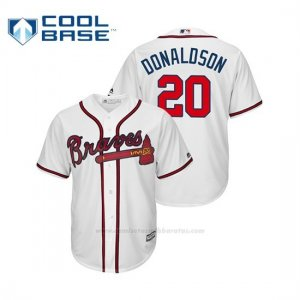 Camiseta Beisbol Hombre Atlanta Braves Josh Donaldson Cool Base Official Home Blanco
