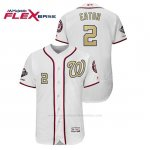 Camiseta Beisbol Hombre Washington Nationals Adam Eaton 2019 Gold Program Flex Base Blanco