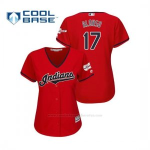Camiseta Beisbol Mujer Cleveland Indians Yonder Alonso 2019 All Star Game Patch Cool Base Rojo