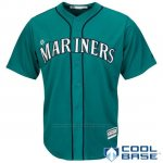 Camiseta Beisbol Hombre Seattle Mariners Verde Cool Base