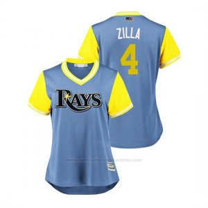 Camiseta Beisbol Mujer Tampa Bay Rays Blake Snell 2018 Llws Players Weekend Zilla Light Toronto Blue Jays