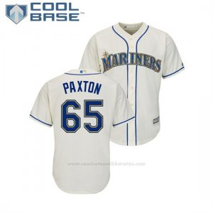 Camiseta Beisbol Hombre Seattle Mariners James Paxton Cool Base Alterno Crema