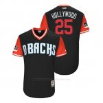 Camiseta Beisbol Hombre Arizona Diamondbacks Archie Bradley 2018 Llws Players Weekend Hollywood Negro