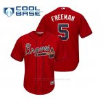 Camiseta Beisbol Hombre Atlanta Braves Freddie Freeman Cool Base Alternato 2019 Rojo