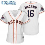 Camiseta Beisbol Mujer Houston Astros 2017 World Series Campeones Brian Mccann Blanco Cool Base
