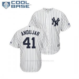 Camiseta Beisbol Hombre New York Yankees Miguel Andujar Cool Base 1ª Replica Blanco