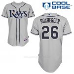 Camiseta Beisbol Hombre Tampa Bay Rays Brad Boxberger 26 Gris Cool Base