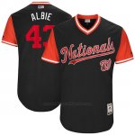 Camiseta Beisbol Hombre Washington Nationals 2017 Little League World Series Matt Albers Azul