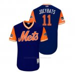 Camiseta Beisbol Hombre New York Mets Jose Bautista 2018 Llws Players Weekend Joeybats Royal