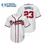 Camiseta Beisbol Hombre Atlanta Braves Adam Duvall Cool Base Official 1ª Blanco