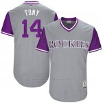 Camiseta Beisbol Hombre Colorado Rockies 2017 Little League World Series Tony Wolters Gris