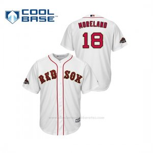 Camiseta Beisbol Hombre Boston Red Sox Mitch Moreland 2019 Gold Program Cool Base Blanco