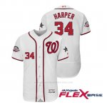 Camiseta Beisbol Hombre Washington Nationals Bryce Harper 2018 All Star Game Flex Base Blanco