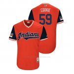 Camiseta Beisbol Hombre Cleveland Indians Carlos Carrasco 2018 Llws Players Weekend Cookie Rojo
