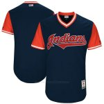 Camiseta Beisbol Hombre Cleveland Indians Players Weekend 2017 Personalizada Azul