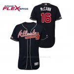 Camiseta Beisbol Hombre Atlanta Braves Brian Mccann 150th Aniversario Patch Autentico Flex Base Azul