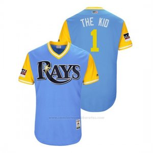 Camiseta Beisbol Hombre Rays Willy Adames 2018 Llws Players Weekend The Kid Light Toronto Blue Jays