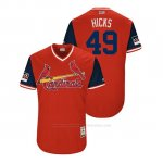 Camiseta Beisbol Hombre St. Louis Cardinals Jordan Hicks 2018 Llws Players Weekend Hicks Rojo